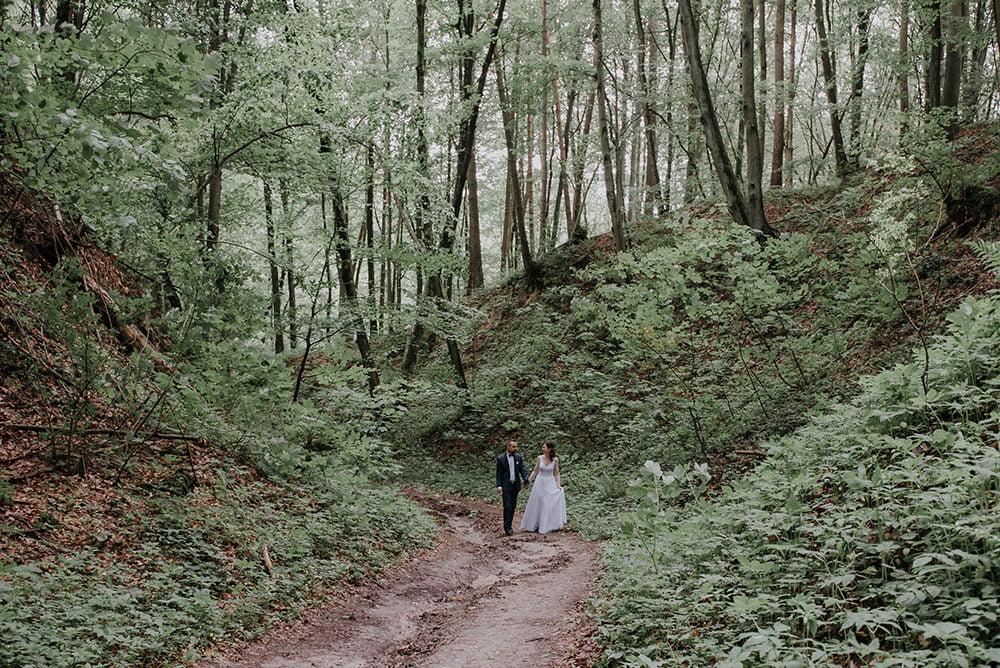 Plener Ślubny w wąwozie Fotograf na ślub
