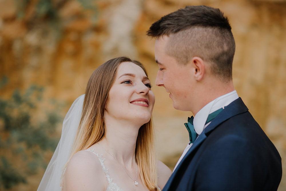 Plener Ślubny w piaskowni kamerzysta na wesele